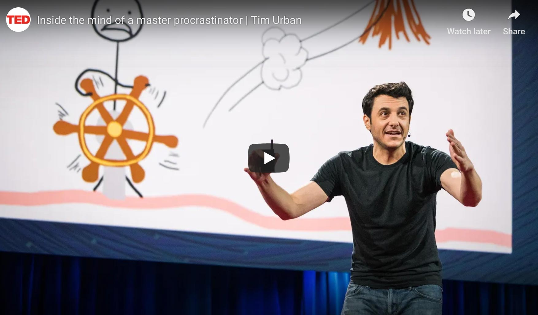 Ted-talk van Tim Urban